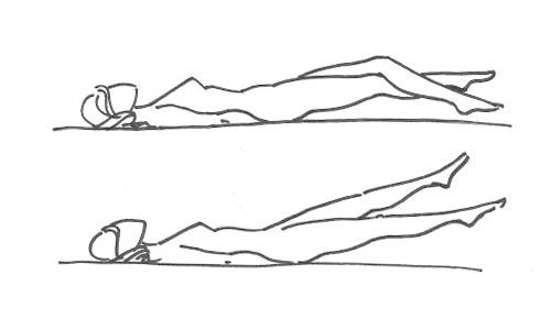 Скручивания (проработка мышц пресса)
