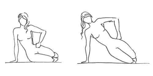 Упражнение «Прямоугольный треугольник» (проработка боковых мышц пресса)