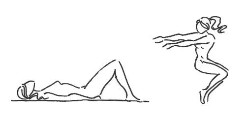 Упражнение (проработка боковых мышц пресса)