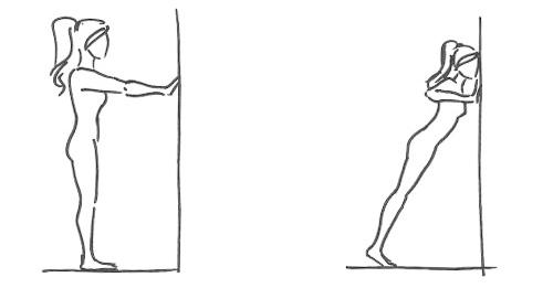 Отжимания от стены (проработка мышц груди, рук)
