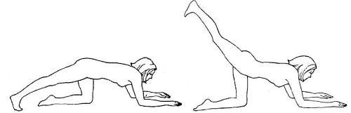 Оттягивание ноги назад (проработка ягодичных мышц)