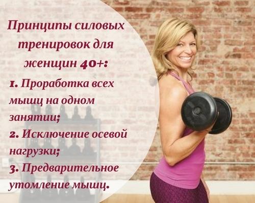 Силовые тренировки для женщин после 40 лет