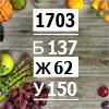 Рацион на 1703 ккал диабетический для активных женщин (Б/Ж/У: 137/62/150)
