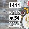 Рацион на 1414 ккал сбалансированный (Б/Ж/У: 113/54/122)