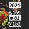 Рацион на 2024 ккал высокобелковый (Б/Ж/У: 169/81/152)