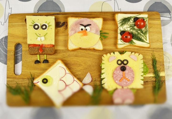 5 детских бутербродов
