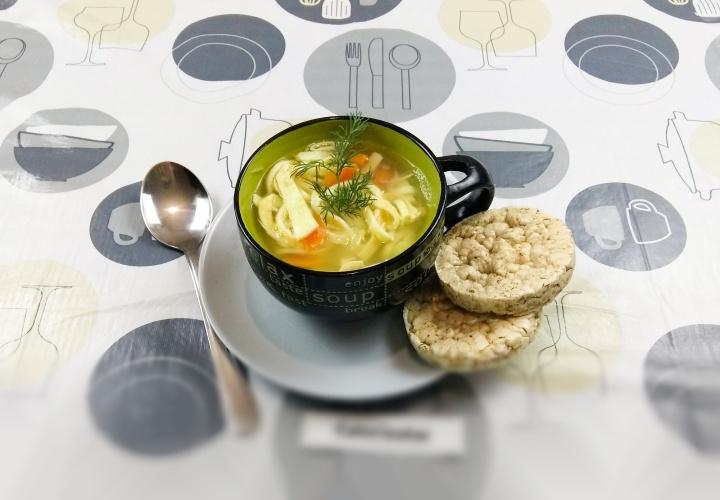 Чудо-суп Куриный с яичной лапшой