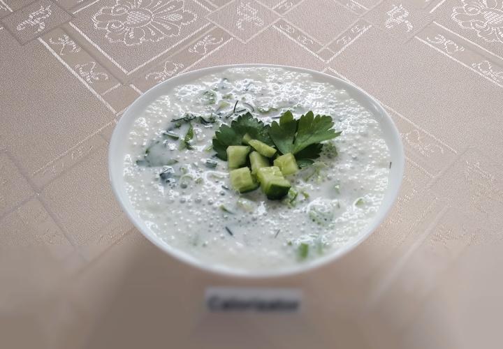 Летний холодный суп на кефире