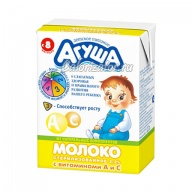 Молоко Агуша с витаминами А и С 3.2%