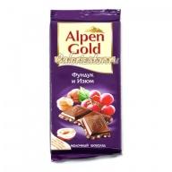 Шоколад Alpen Gold Фундук и Изюм