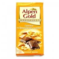 Шоколад Alpen Gold Арахис и Кукурузные хлопья
