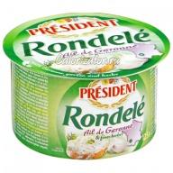 Сыр President Rondele творожный с чесноком и травами