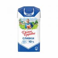 Сливки Домик в деревне питьевые 10%