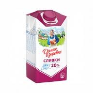 Сливки Домик в деревне питьевые 20%