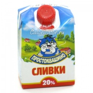 Сливки Простоквашино 20%