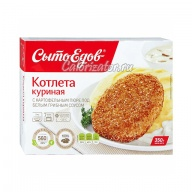 Котлета Сытоедов куриная с картофельным пюре под белым грибным соусом