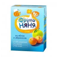 Сок ФрутоНяня из яблок и абрикосов с мякотью