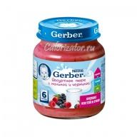 Йогуртное пюре Gerber с малиной и черникой