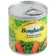 Горошек зелёный Бондюэль с молодой морковью