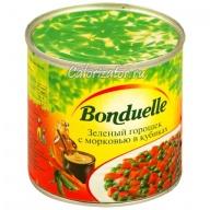 Горошек зелёный Бондюэль с морковью в кубиках