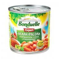 Фасоль Бондюэль белая Пикантная в томатном соусе