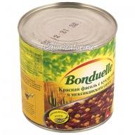 Фасоль Бондюэль красная с кукурузой в мексиканском соусе