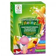Пшенично-кукурузная кашка Heinz персик банан вишенка молочная