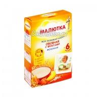 Овсяная каша Малютка молочная с фруктами