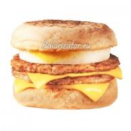 Макзавтрак двойной МакМаффин с яйцом и свиной котлетой