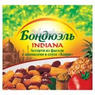 Ассорти Бондюэль из фасоли с ананасами в соусе Карри