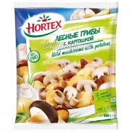 Лесные грибы Hortex с картошкой