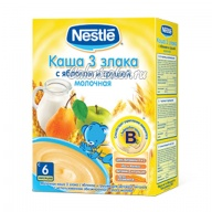 Каша 3 злака Nestle молочная с яблоком и грушей