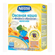 Овсяная каша Nestle молочная с яблоком и абрикосом