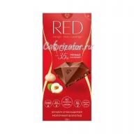 Шоколад RED молочный с фундуком и макадамией без сахара