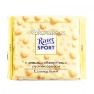 Шоколад Ritter Sport белый с цельным лесным орехом