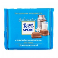 Шоколад Ritter Sport молочный с альпийским молоком