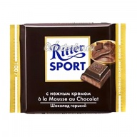 Шоколад Ritter Sport горький с нежным кремом à la Mousse au Chocolat
