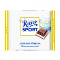 Шоколад Ritter Sport молочный с нежным йогуртом