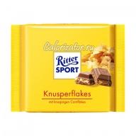 Шоколад Ritter Sport молочный с кукурузными хлопьями