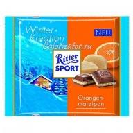 Шоколад Ritter Sport зимний Апельсин-Марципан