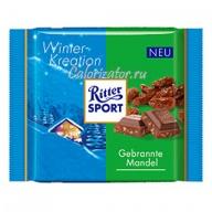 Шоколад Ritter Sport зимний Карамель-Миндаль