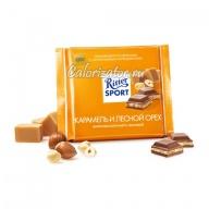 Шоколад Ritter Sport молочный с карамелью и орехом