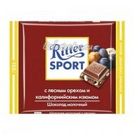 Шоколад Ritter Sport молочный с лесным орехом и калифорнийским изюмом