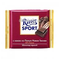 Шоколад Ritter Sport горький с какао из Папуа Новая Гвинея