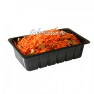 Морковь по-корейски с грибами готовая