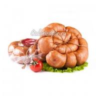 Колбаса варено-копченая куриная жареная