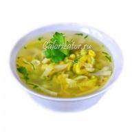 Суп из лука-порея с макаронами