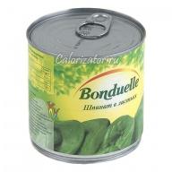 Шпинат Бондюэль в листьях консервированный