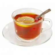Чай чёрный с лимоном и сахаром