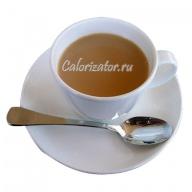 Чай чёрный с молоком и сахаром